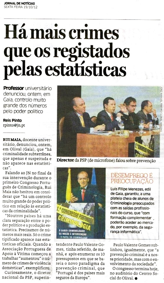 1º Cong. Port Criminologia - Rui Maia (19.10.12)