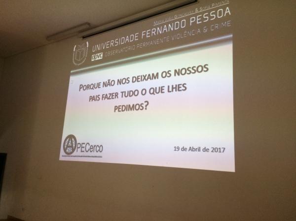 Mais uma ação desenvolvida por membros do OPVC - Maria João Gonçalves e Sofia Pimenta esclarecem...